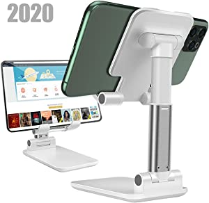 Cell Phone Stand,Angle Height Adjustable Cell Phone sStand for Desk,Fully Foldable Phone Holder Stamd,Cradle,Dock,Tablet Stand,Compatible with All MobilePhone/iPad/Kindle/Tablet