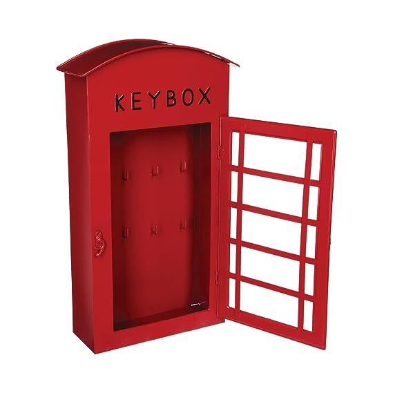 Armario para llaves - Forma cabina telefónica LONDON - Color ROJO: Amazon.es: Hogar