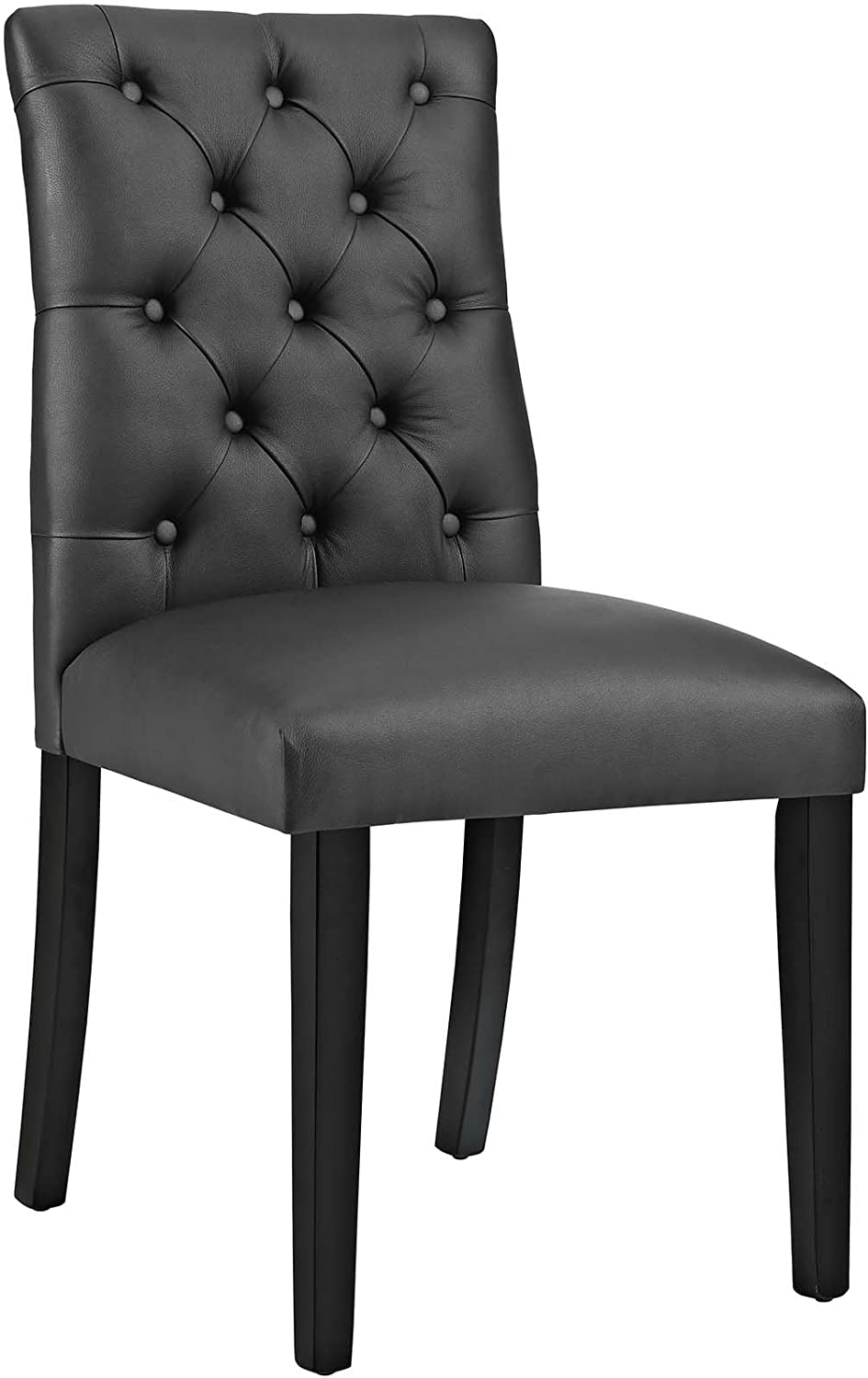 Modway MO- Duchess Modern Tufted Button Faux Leather Upholstered Parsons, Dining Chair, Black