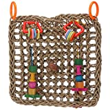 yoyoung Bird Toys - Handmade Seagrass Activity Foraging Wall Toy for Parrot Conure Cockatiel Parakeet
