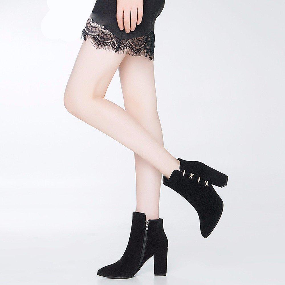 GTVERNH-im winter und mit im winter high heels und mit und stiefeln matte leder strass tipps so ferse stiefel damen stiefeletten 753c6d