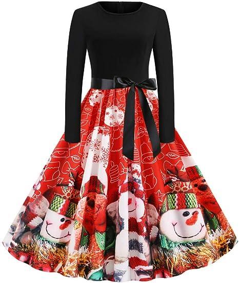 Sportswear-MZ Falda navideña de Manga Larga con Cuello Redondo y ...