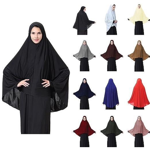 Muslim Women Prayer Soft Long Scarf Hijab Jilbab Islamic Headwear ... 6552f33dd4c