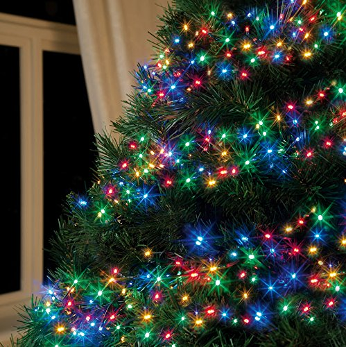 Led Christmas Tree Lights.Bravich 1000 Led 33m Multi Colour Led Multi Action Tree Lights Cluster Lights