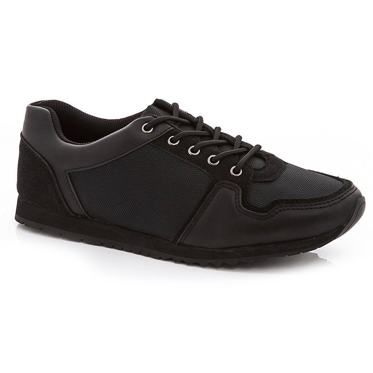 Franco Vanucci Mens 9994 Lace Up Sneakers Black Black Size 11
