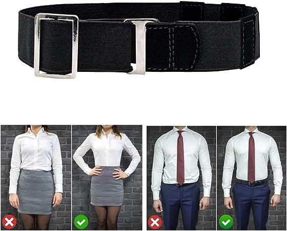 Bokeley - Cinturón para Hombre y Mujer, Ajustable Cerca de Camisa, Soporte para Camisa, cinturón Negro Tuck It para Camisa, Camisa para Hombre: Amazon.es: Hogar