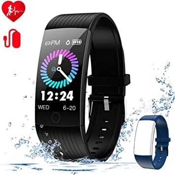 WELTEAYO Fitness Tracker with Heart Rate Monitor Fitness Watch Activity Tracker 1.14 Inch Color Screen Pedometer Blood Pressure Monitor Sleep Monitor ...
