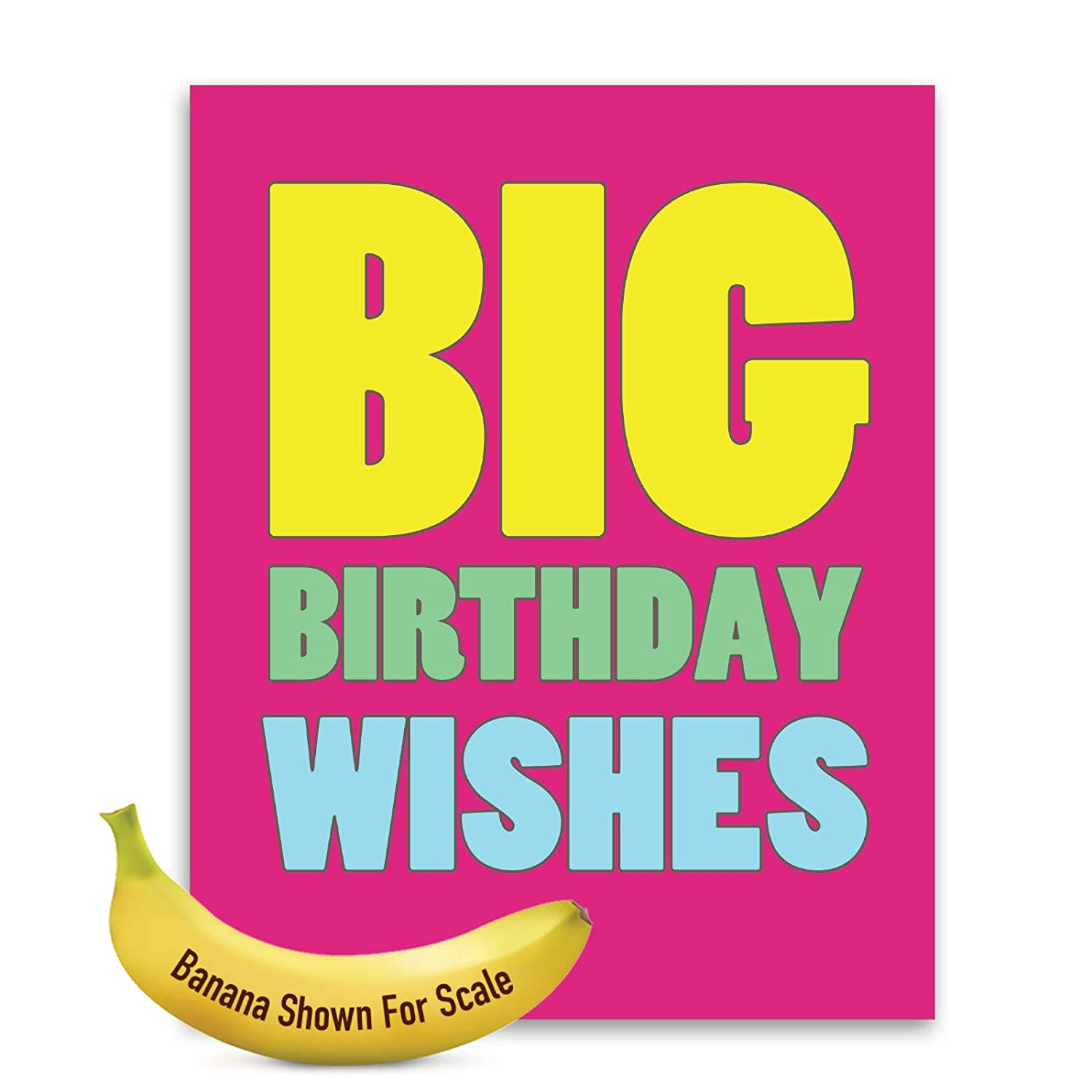 Amazon Jumbo 3 Pack Of Birthday Cards Big Wishes With Envelope Giant Size 85 X 11 J2720BDG3 Office Products
