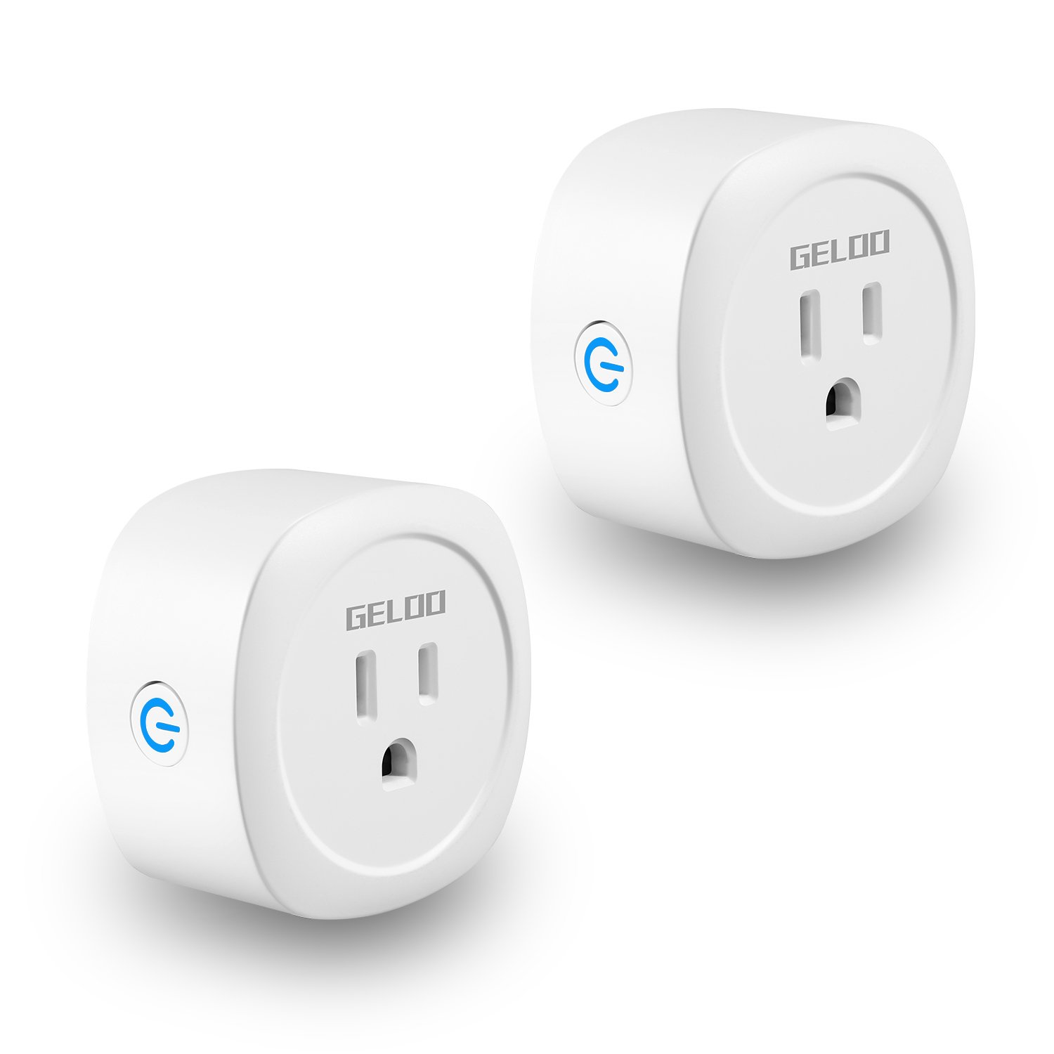 Smart Plug, GELOO WiFi Smart Outlet 2 Pack, Works with Alexa Echo/dot Compatible with Google Home Assistant IFTTT, Remote Control Your Electric Devices from Anywhere, No Hub Required
