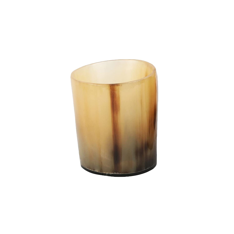 PARIJAT HANDICRAFT Viking Drinking Horn Authentic Medieval Mead Cup- Leak Free Beer Beaker- Handmade Stein Mug Shot Glass Horn-Glass-563