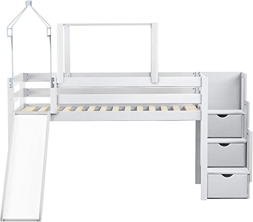 JACKPOT Princess Low Loft Stairway Bed