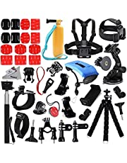 Deyard Accessories Kit for GoPro Hero 7 Hero HD (2018) GoPro Hero 6 GoPro Hero 5 GoPro Hero 4 Hero Session Hero 5 Session Fit Xiaomi AKASO Victure APEMAN Action Camera