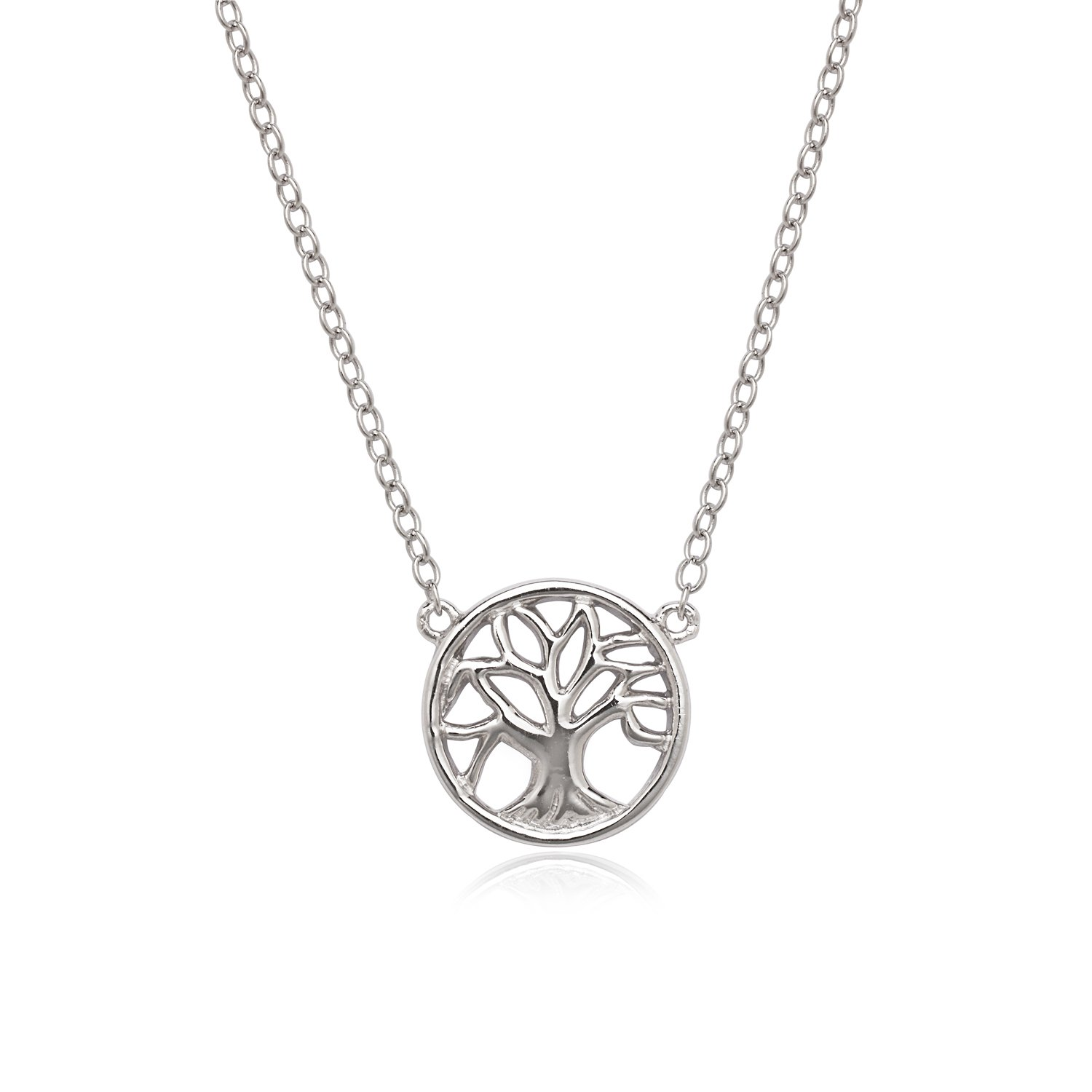 Beaux Bijoux Sterling Silver 16 2 Extension Tree of Life Circle Necklace