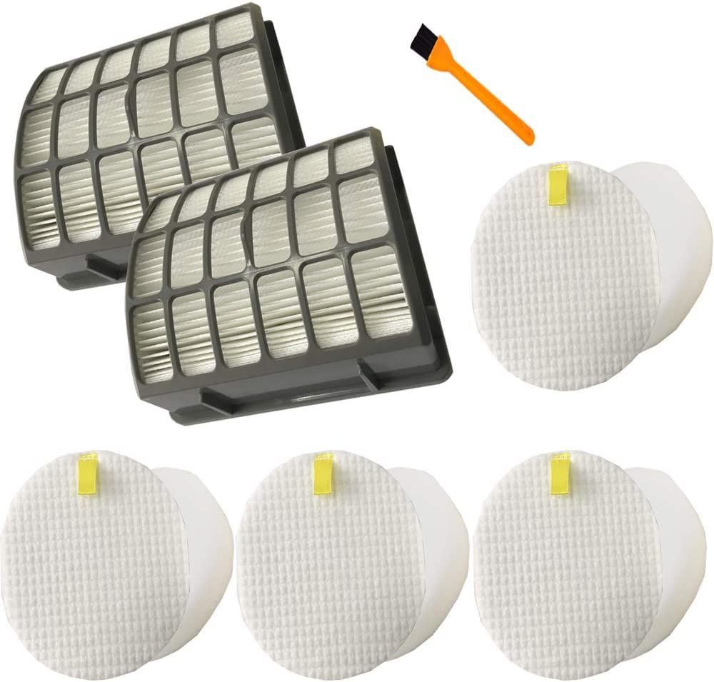 Hongfa Replace Shark Navigator NV70 Filters, HEPA Filter Parts for Shark NV70, NV71, NV80, NVC80C, NV90, NV95 & UV420 Upright Vacuum,Compare to Parts XHF80&XFF80