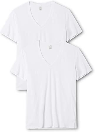 G-STAR RAW Base Htr V T S/S 2-Pack Camiseta para Hombre: Amazon.es ...