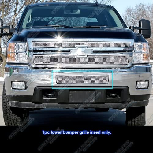 APS Compatible with 2013-2016 Chevy Traverse Stainless Steel Bumper Mesh Grille Insert S18-T94957C