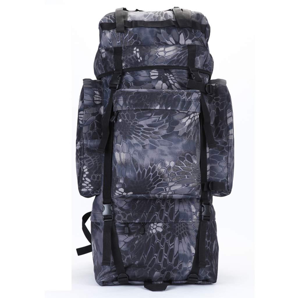 ココのインナーフレームアウトドアハイキングバックパック、防水砂防の山またはジャングルの冒険の旅行のバックパック、カモフラージュのすべての種類 (色 : Black python, サイズ さいず : 100L)   B07QC76L2G