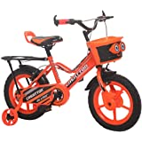 Ollmii Bikes 14 inches Orange Unisex Kids Cycle for 3 to 5 Years