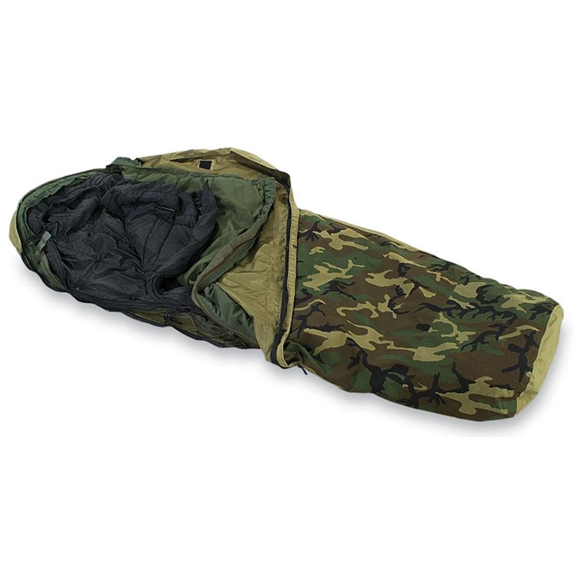 Military Outdoor Clothing Previously Issued U.S. G.I. Modular Sleeping Bag System (4-Piece) by Military Outdoor Clothing