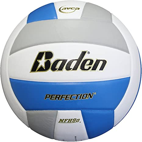 Baden Perfection - Balón de Voleibol de Piel, Color Blue/White ...