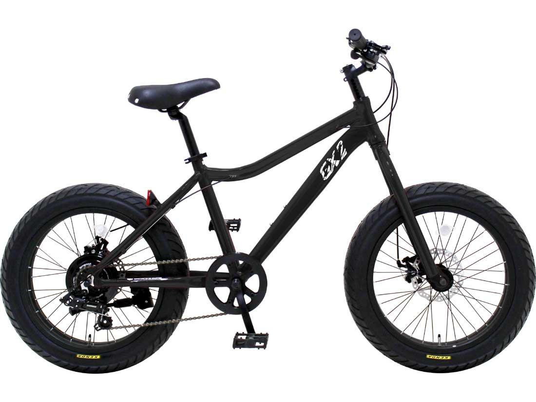 【DAINICHI BLUEPOINT-GX2】湘南鵠沼海岸発信 20インチ ミニベロファットバイク B01JL299KO ブラック ブラック