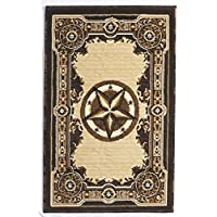 Rugs 4 Less Collection Texas Lone Star State Novelty Door Mat Area Rug R4L 723 Chocolate / Brown (2X3)