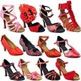 50 Shades Red Dance Dress Shoes: SERA7015 Red, 3'' Heel, Size 6