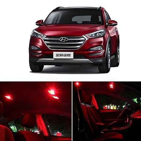 cciyu 8 Super Red LED Interiror luz paquete de bombillas para 2010 – 2016 Hyundai Tucson