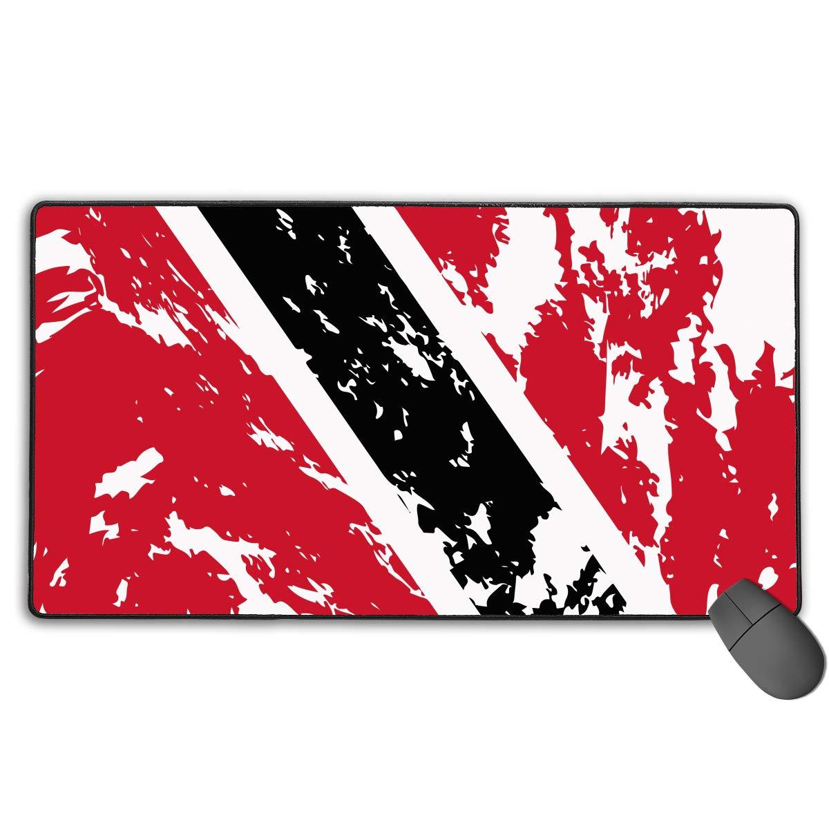 ゲーミングマウスマット マウスパッド かわいいマウスパッド ノンスリップベース 防水 マウスマット ステッチ ほつれ防止エッジ ノートパソコン オフィス 洗えるデスクライティングパッド - コンピュータキーボードパッドマット (15.7x29.5インチ) 15.7 × 29.5 inch グレイ B07NPGXYWH Trinidad and Tobago Flag 15.7 × 29.5 inch