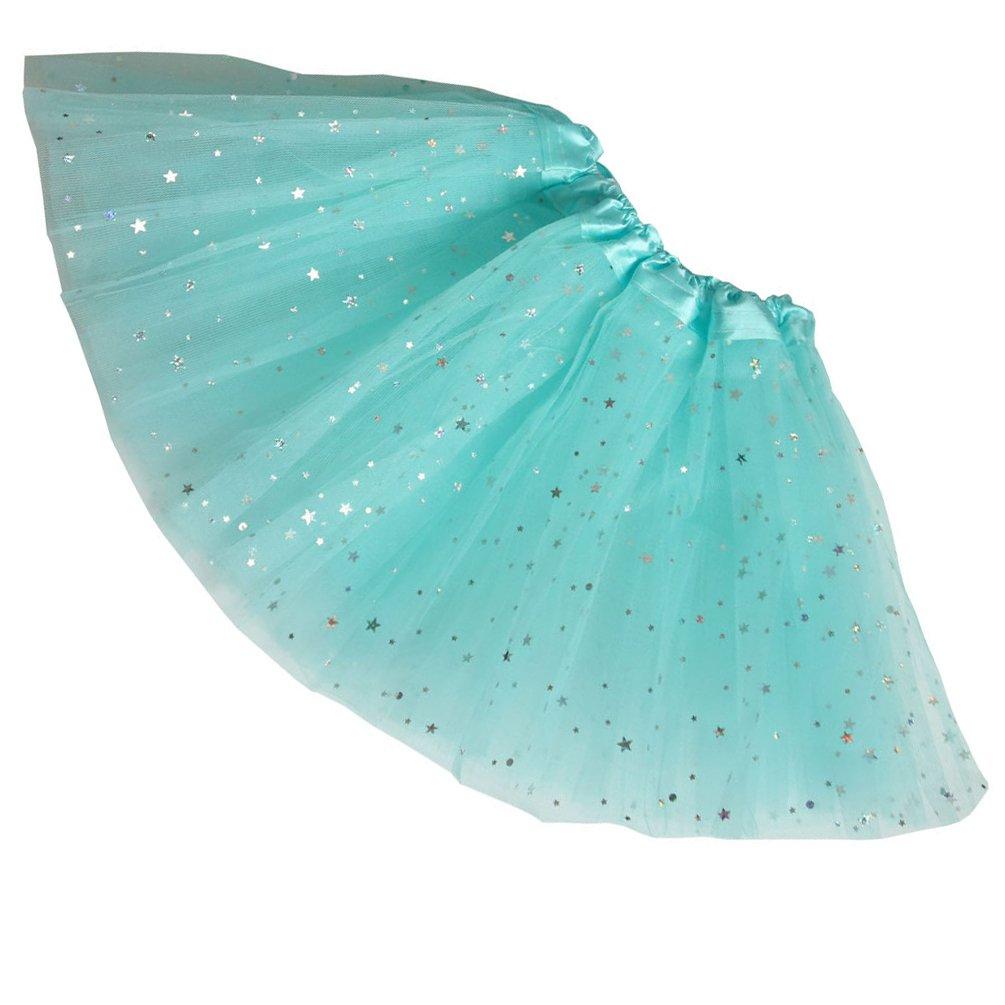 Bjinxn Girls Sparkle Tutus Princess Ballet Dance Layered Tulle Tutu Skirts,2-8T
