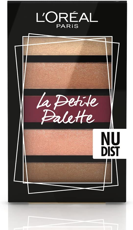 L Oréal Paris MakeUp Estuche Idea Regalo Mujer Ojos y Labios, Mascara Pestañas falsas Mariposa, Pequeña Paleta Sombra Nudist, Pintalabios, Riche Satin 226: Amazon.es: Belleza