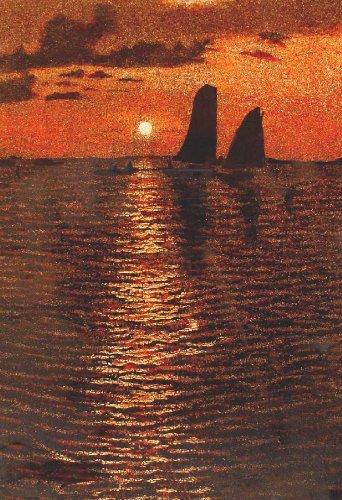 "Vietnamese Lacquer Paintings - 24"" x 16"" Sunset - LP300"