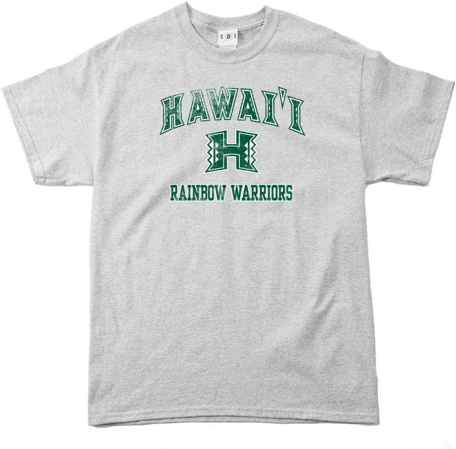NCAA Hawaii Rainbow Warriors 100-Percent Pre-Shrunk Vintage Mascot Short Sleeve Tee