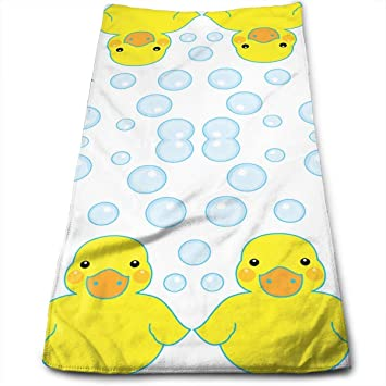 DAICHAI Rubber Ducks and Bubbles Cotton Bath Towels for Hotel-SPA-Pool-Gym-Bathroom - Super Soft Absorbent Ringspun Towels: Amazon.es: Hogar