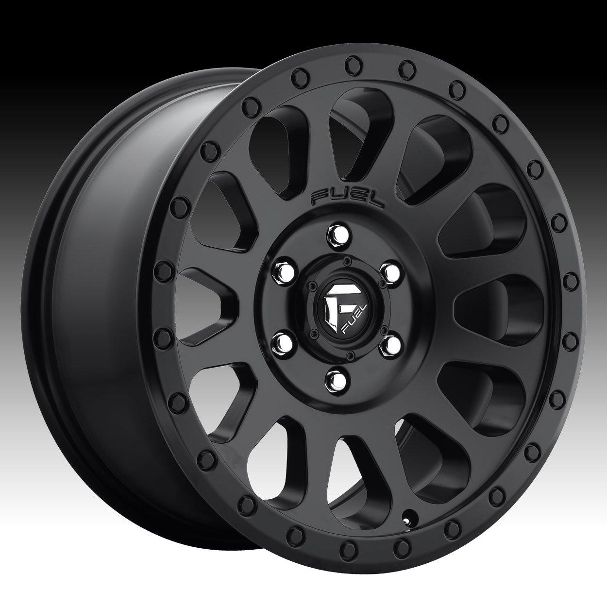 Fuel D579 Vector 16x8 6x114.3 +15mm Matte Black Wheel Rim
