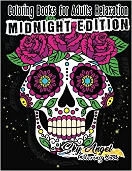 Coloring Books for Adults Relaxation Sugar Skull Coloring Book for