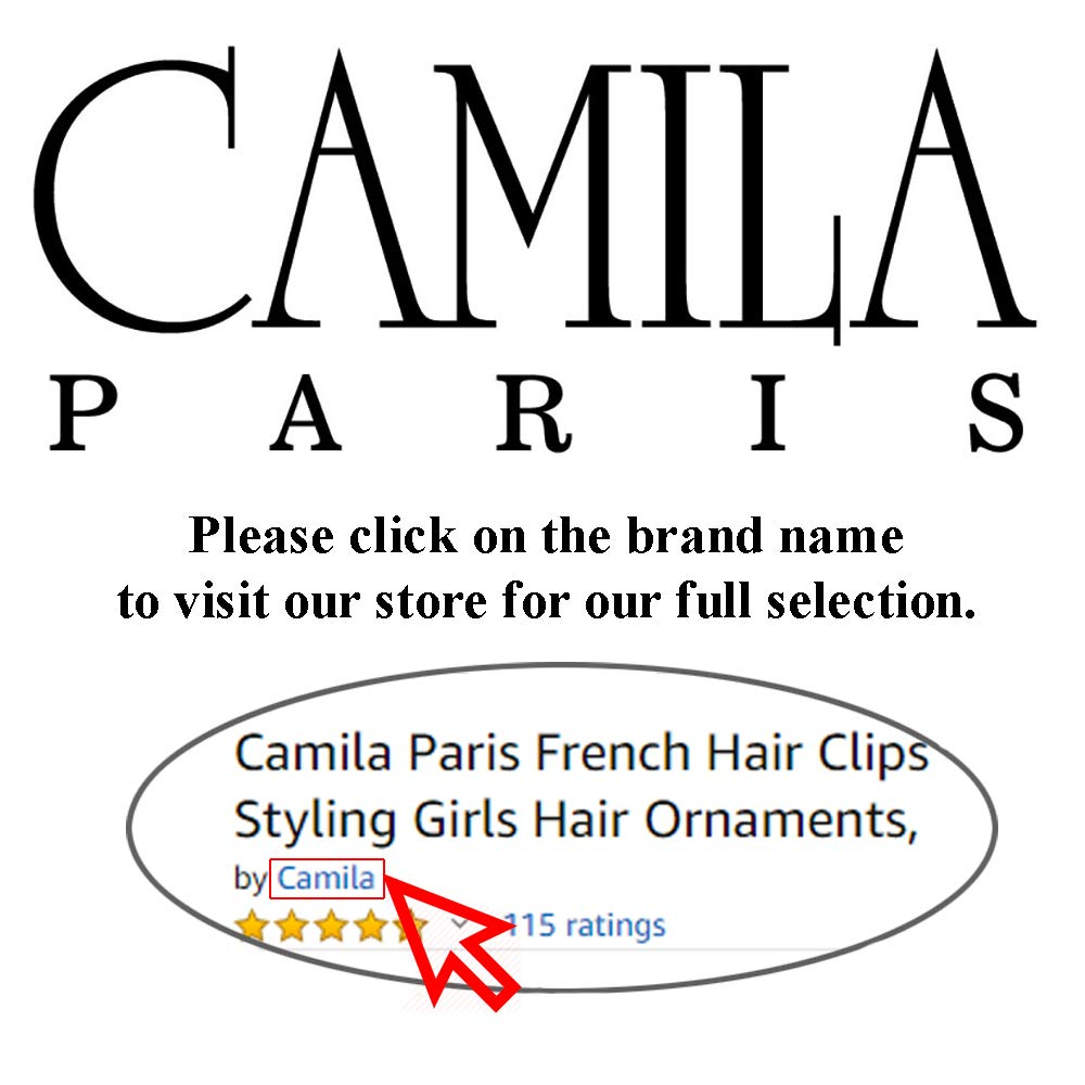 Camila Paris CP33/2 French Hair Side Combs Small Set of 2 Tortoise Shell Flexible Durable Cellulose Hair Combs, Strong Hold Hair Clips for Women, No Slip Styling Girls Hair Accessories, Made in France : Beauty