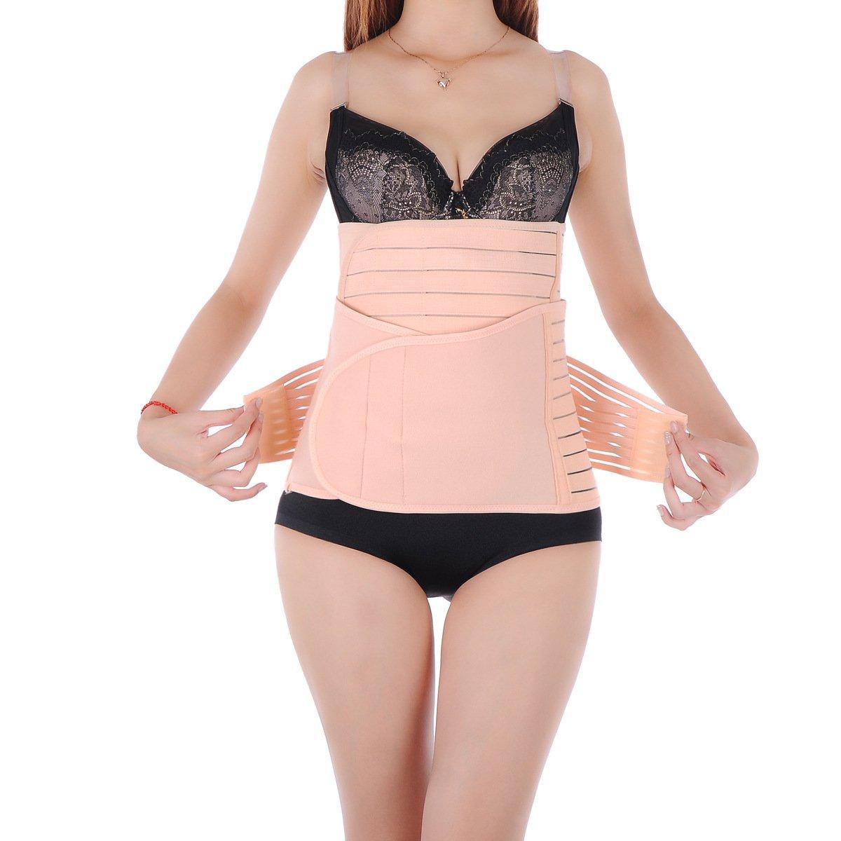 &qq Barriga postparto cinturones o maternidad corset correas/fajas/respirable de plástico lazo correa, embarazada correas flacas mujeres , m: Amazon.es: ...