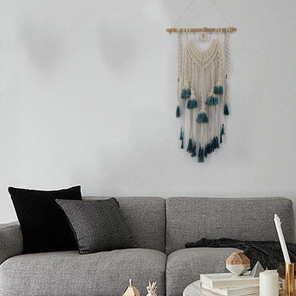 Yangge Yujum Boho Makramee h/ängende Wand-Dekor-Steigung-Farben-Wand-Kunst-Seil-Schnur Woven Tapestry Hauptdekorationen