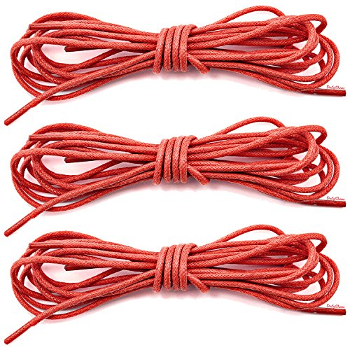 DailyShoes Round Waxed Shoelaces Oxford Flat Dress Canvas Sneaker Shoe Laces (27