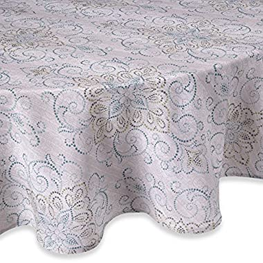 Luxurious French Perle Charm Collection Tablecloth 70  Round, By Lenox