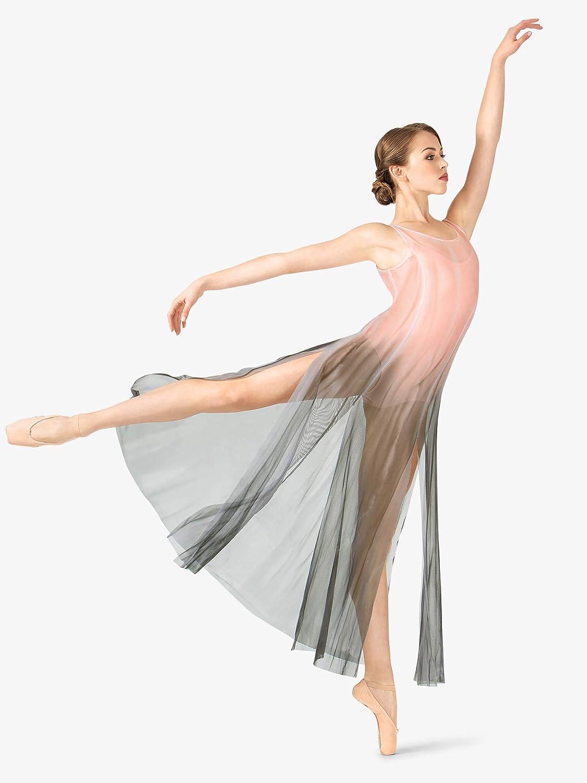 725d4fdb0a9 Amazon.com: Adult Hand Painted Long Tank Mesh Lyrical Dress WC232: Clothing