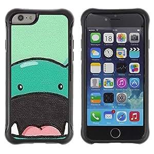 LASTONE PHONE CASE / Suave Silicona Caso Carcasa de Caucho Funda para Apple Iphone 6 / dinosaur cute animal drawing cartoon