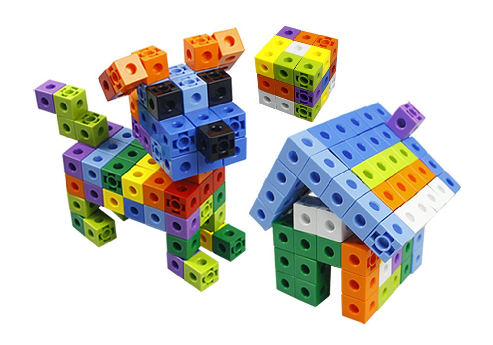 Unlimited Creation Cubes 150 Piece Snap Unit Cubes Centimeter Cube and Interlocking Building Set STEM Toy Promote Color Sorting Math Counting Skills