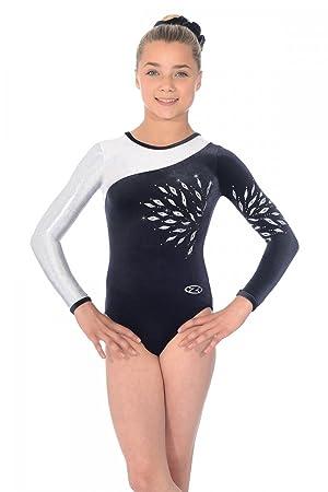912663912 The Zone Eclipse Long Sleeved Gymnastics Leotard  Amazon.co.uk ...