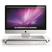 Soporte para monitor de aluminio con cargador usb, Pantalla monitor riser soporte accesorio pantalla mejora escritorio organizador del escritorio de bastidor de montaje de pantalla para el ordenador portátil imac monitor CY1024-