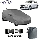 Fabtec Car Body Cover for Maruti Swift Old with Storage Bag Combo! (Heavy Duty with Mirror Pocket)