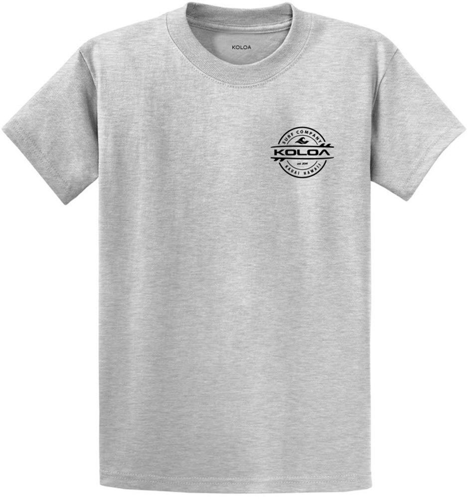 Koloa Surf 2-Sided Thruster Logo Heavy Cotton T-Shirt-Ash/b-S