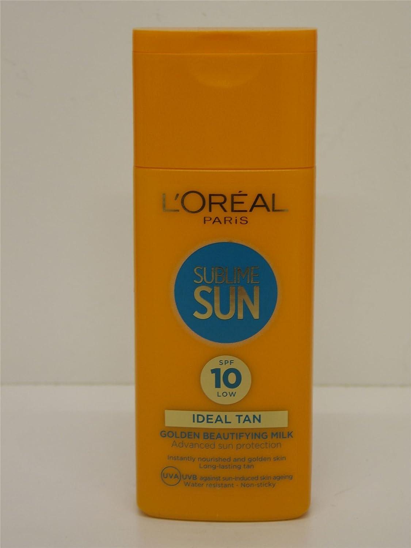 2 x L'Oreal Sublime Sun Golden Beautifying Milk SPF 10 2x200ml l' oreal