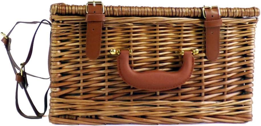 parte de nuestra gama Ashby. Cesta de picnic para 2 personas con accesorios y manta de color crema